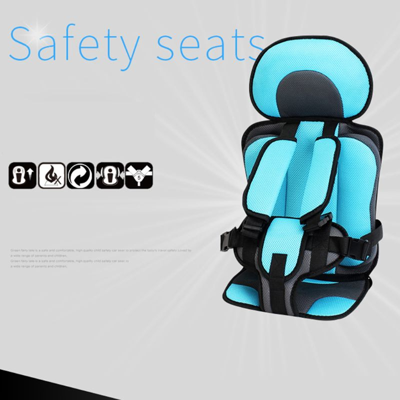 1-5T Travel Kids Safety Seat Cushion With Infant Safe Belt Fabric Mat Little Child Carrier