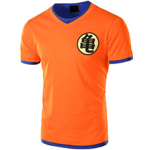 Евро Размеры Dragon Ball футболка Для мужчин лето 2017 г. Dragon Ball Z Для мужчин S Slim Fit Косплэй 3D футболки Повседневное хлопок Футболка Homme