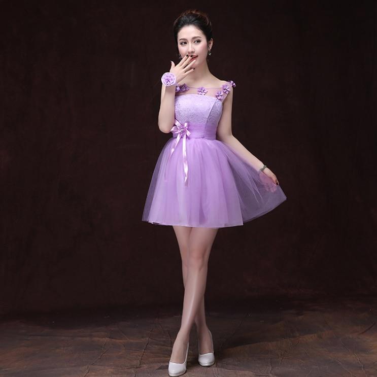 short light purple bridesmaid junior cheap bridemaids ...