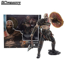 Machado 4 Escudo com God of War Kratos NECA PVC Estátua Figura Collectible Modelo Toy 20 cm(China)