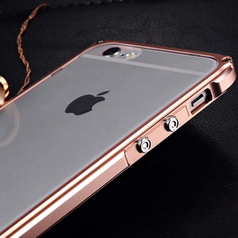Cubierta de parachoques de metal para iPhone 6 Funda de aluminio para - Accesorios y repuestos para celulares - foto 5