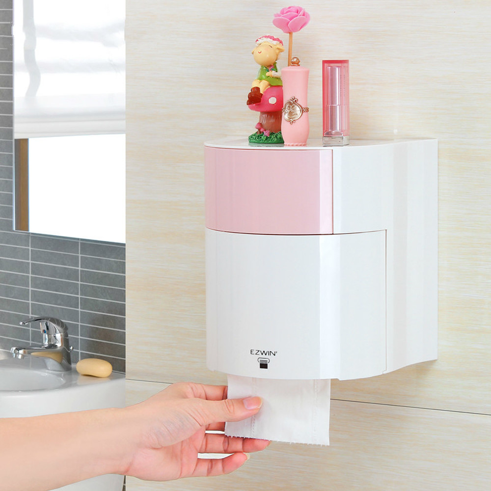 Creative Toilet toilet paper towel box free hole toilet carton paper roller waterproof paper towel sanitary carton LM12191628