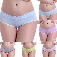 Женская одежда Faja Postparto с низкой талией для беременных женщин сексуальное нижнее белье для беременных дышащее женское v-образное Белье для беременных