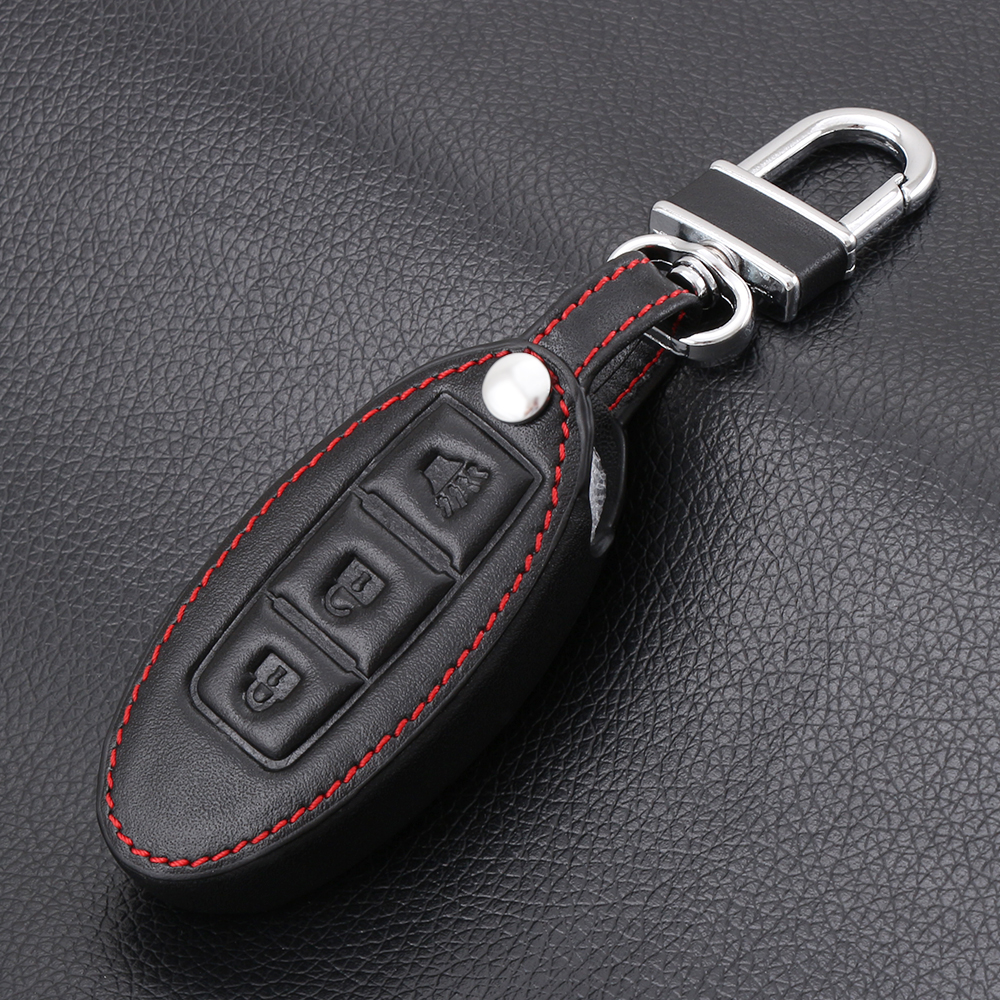 New design leather car styling key cover for nissan juke sunny sylphy teana qashqai livina x