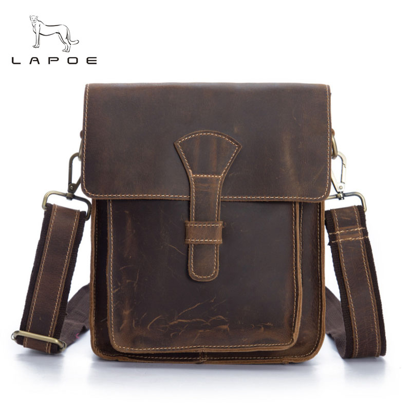 Crazy Horse Genuine Leather Messenger Bags Men Travel Business Crossbody Shoulder Bag for Man Sacoche Homme Bolsa Masculina crazy horse genuine leather messenger bags men travel business crossbody shoulder bag for man sacoche homme bolsa masculina