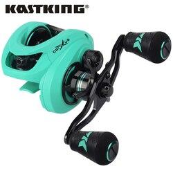 KastKing Crixus 5 + 1/7 + 1BBs Super Leve Carretel De Pesca De Arremesso Carretel De Arremesso Sistema De Freio Duplo de Água Doce 8KG Arrastar