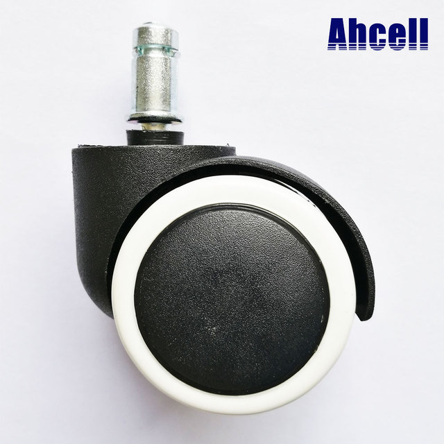 5pcs 50 Universal Mute Chair Wheel 2 Easy Replacement Office Swivel Cart Rubber Rollers Nylon