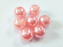 (Elija el Tamaño Primero) 10mm/12mm/20mm Rosa Claro Efecto de Brillo Acrílico Granos de la Perla