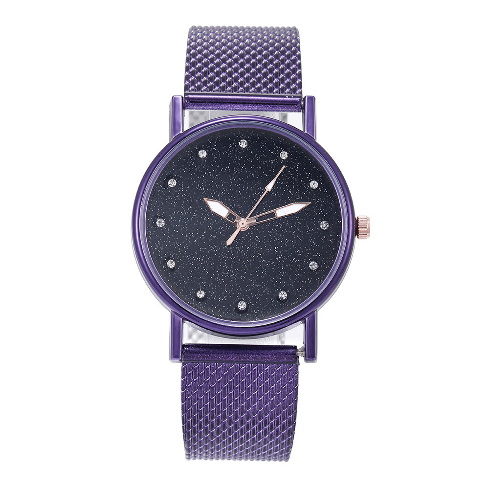 New Quartz Wristwatches Exquisite Rhinestone Starry Sky Watches Classic Women's Fashion Watch Dress Relogio Feminino Clock #B