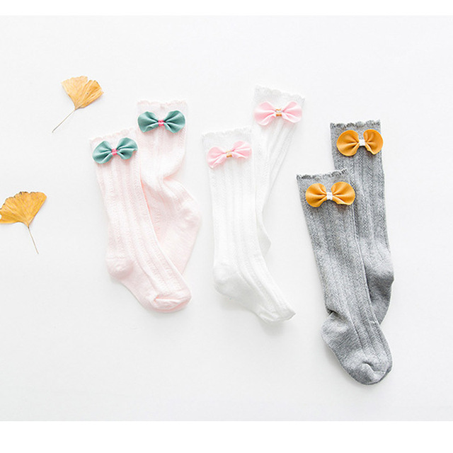 Aliexpress.com: Comprar Toddler rodilla alta calcetines para recién ...