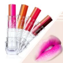 LEARNEVER Fashion Women Mix Three Colors Gradient Lipstick Lip Gloss Lip Stick Cream Beauty Brand Makeup