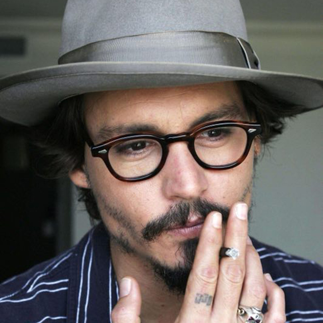 5fe05bab07 Glasses Men Johnny Depp Eyeglasses Transparent Lens Brand design Computer  Goggles male Round Vintage Style with