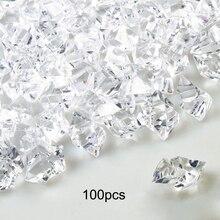100 шт. кубики искусственного льда прозрачные поддельные измельченные ледяные камни кубики льда Акриловые Ваза Наполнители для дома вечерние свадебные украшения