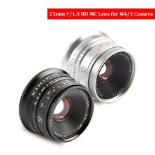 Black/Sliver 25mm F/1.8 HD MC Manual Focus Lens for Olympus Panasonic M4/3 Camera GX7 GX8 GH4 GH3 OM-D E-M5 E-M1 E-M10 E-PL7