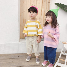 2019 boys girls letters printed long sleeve loose T shirts kids children cotton all-match casual Tees Tops baby clothing G019 oem g019 page 3