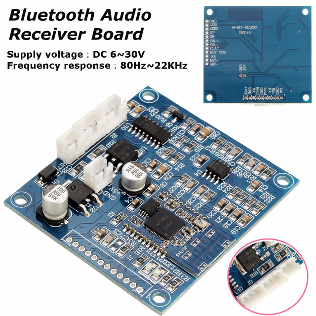 US $11 94 46% OFF|Stereo bluetooth Audio Receiver Board Sound Speaker  Receiving Module Integrated Circuits Active Components Cable Board Kit-in