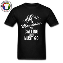 Camisa Rteo Mens Landspcape Tshirt Mountain Hill Forest Men T Shirts 100% Cotton The Mountains Are Calling And I Must Go