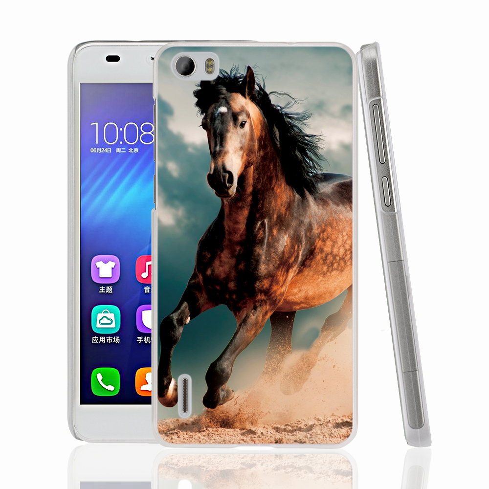 Shop2918059 Store 22440 The king of horse racing horse animal cell phone Cover Case for huawei honor 3C 4A 4X 4C 5X 6 7 8 V8 Y6