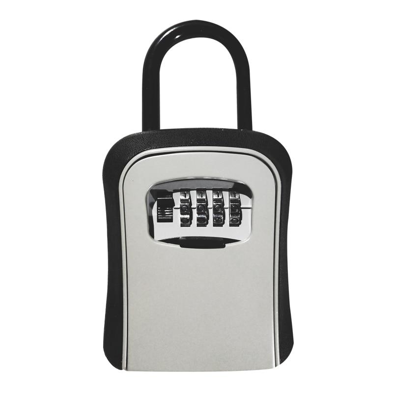 Outdoor Key Safe Box Hook Type Keys Storage Box Padlock Password Lock Alloy Steel Material Keys Security Organizer Boxes