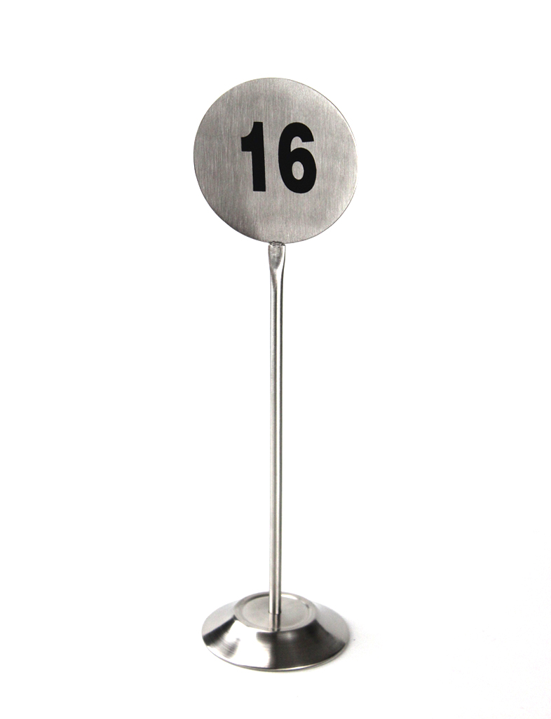 Stainless Restaurant Table Stainless Steel Table Number Stand Desktop Countertop Metal Number