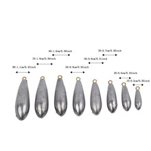 New Ocean Boat Fishing Lead Sinkers Plummet Saltwater Waterdrop Design Hot