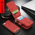 Genuine Leather Case For iPhone 5SE CaseMe Многофункциональный Съемный 2 в 1 Бумажник Чехол Для iPhone5 5S Бесплатная Доставка