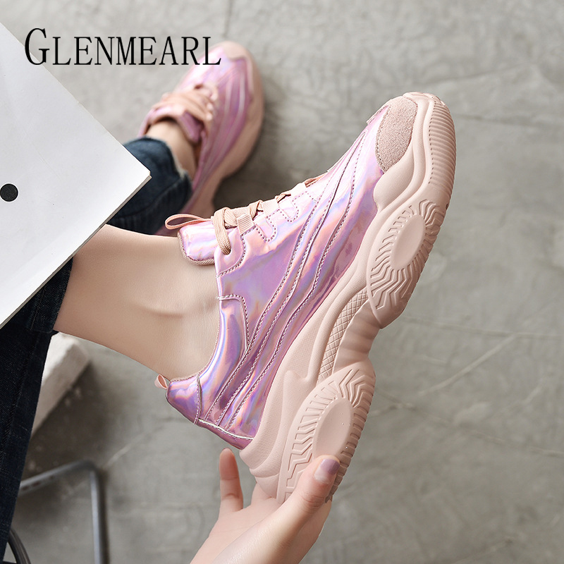 Genuine Leather Women Sneakers Casual Shoes Platform Lace Up Fashion Woman Flats Running Shoes Spring Autumn White Shoes Female in Women 39 s Flats from Shoes