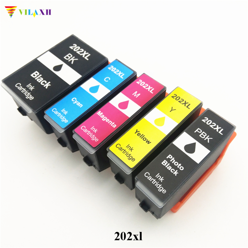 vilaxh <font><b>202XL</b></font> 202 Compatible Ink Cartridge For <font><b>Epson</b></font> 202 XL Expression premium XP-6000 XP-6005 XP6000 XP6005 Printer image