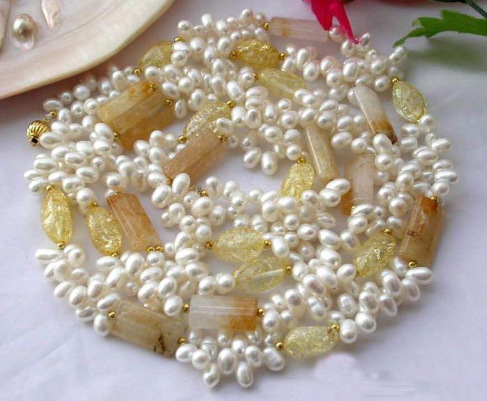 Pearl Necklace,48inches Long White Rice Freshwater Pearl Natural Jades Citrines Necklace,Fashion Women Chirstmas Gift JewelleryPearl Necklace,48inches Long White Rice Freshwater Pearl Natural Jades Citrines Necklace,Fashion Women Chirstmas Gift Jewellery