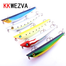 New 12.5cm 18g High Quality minnow Fishing lure Artificial Fishing bait 2# carbon steel hook fishing tackle Ocean popper lure цена 2017