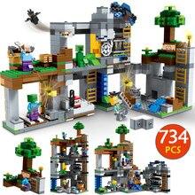 Мой Мир дна Adevnture строительные блоки, совместимые Legoingly Minecrafted 21147 Стив цифры Кирпичи игрушки для детей