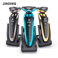 JINDING Electric Shaver For Men Washable 3D Floating Head Rechargeable Shaving Machine Beard Portable Fast Charge