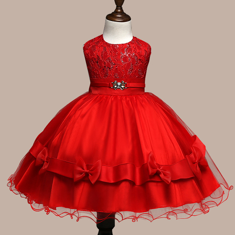 Подробнее о 2016 Summer style kids dress for girls flower lace princess party costume girl floral dress pearl kids clothes vestido meninas teenage girls dresses summer england style lace flower princess dress for girl wedding party prom costume kids clothes floral