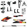 24pcs/lot wholesale wltoys wl toys v913 RC helicopter spare parts set canopy+blade+gear+ fly bar+swash plate free shipping
