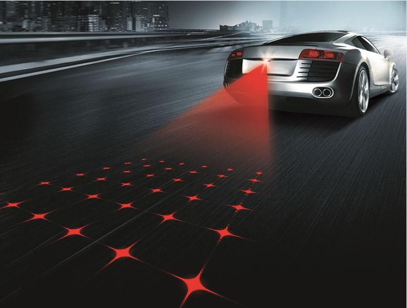 Car style Laser Tail Fog Lights Auto Parking Warn Lamp For Nissan Qashqai Rogue Safari Sentra Skyline Crossover Stagea Sunny