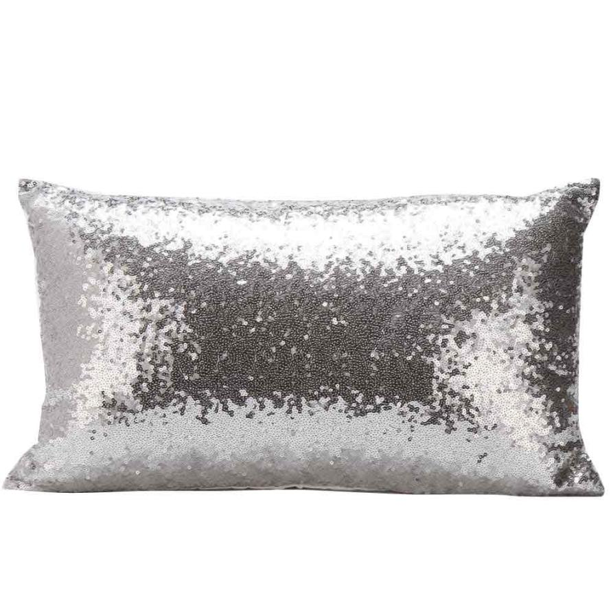 New Qualified Cushion Cover Sequins Sofa Bed Home Decoration Festival Pillow Case Cushion Cover Levert Dropship dig6119