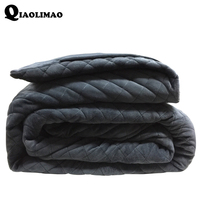 Hot American Style Weighted Blanket Grey Crystal Velvet Quilted Duvet Cover Decompression Air Insomnia Conditioning Cotton Quilt