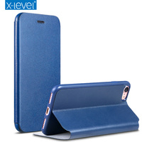 X Level PU Leather Case For IPhone 8 Business Style Flip Phone Case For IPhone 8