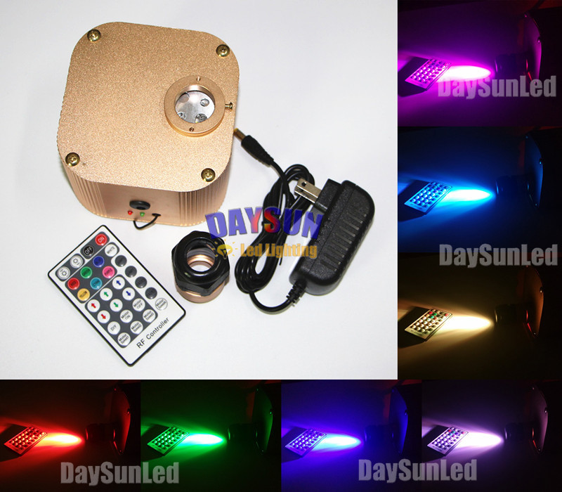 New Hot 16W RGB LED Fiber Optic Star Ceiling Light Engine + Remote Controller Hot DIY Light for Wedding Party Home Decor Light  new dmx led optic fiber light engine ac110v or ac240v double ports led illuminator for diy lights