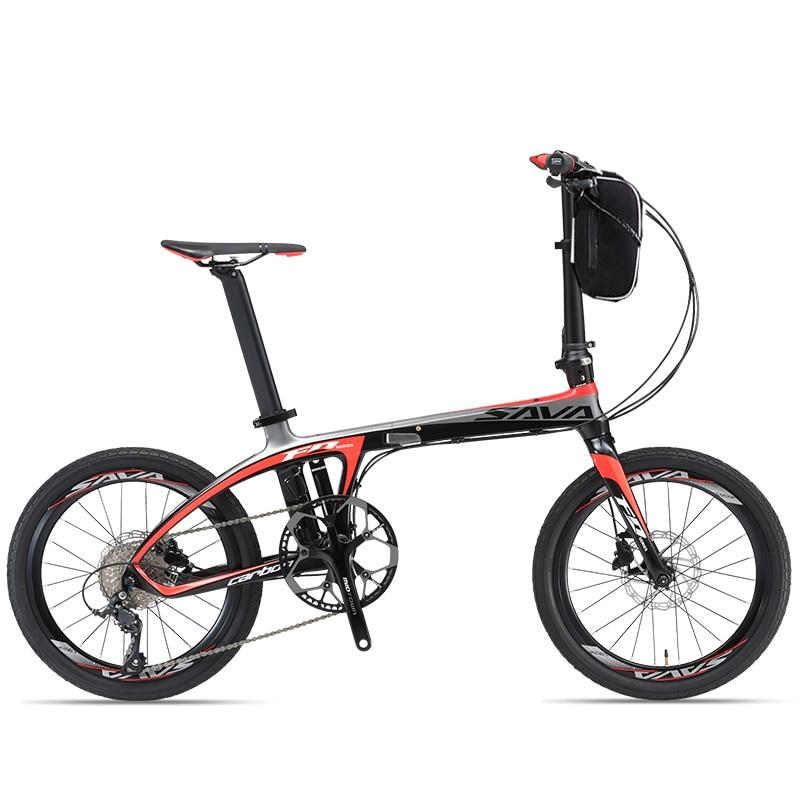 20 pollici in fibra di carbonio bicicletta elettrica 36 v batteria al litio 250 w ad alta velocità del motore fold ebike telaio in fibra di carbonio 25-35 km/h