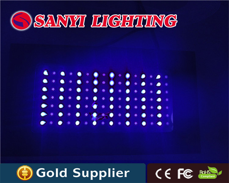 Super bright led saltwater aquarium lighting 120w white blue for saltwater tank, no fan noise