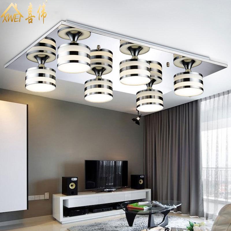 excellent led lmpara de techo moderna minimalista pasillo dormitorio saln de moda de acrlico cuadrada with lamparas de techo de diseo modernas with lamparas