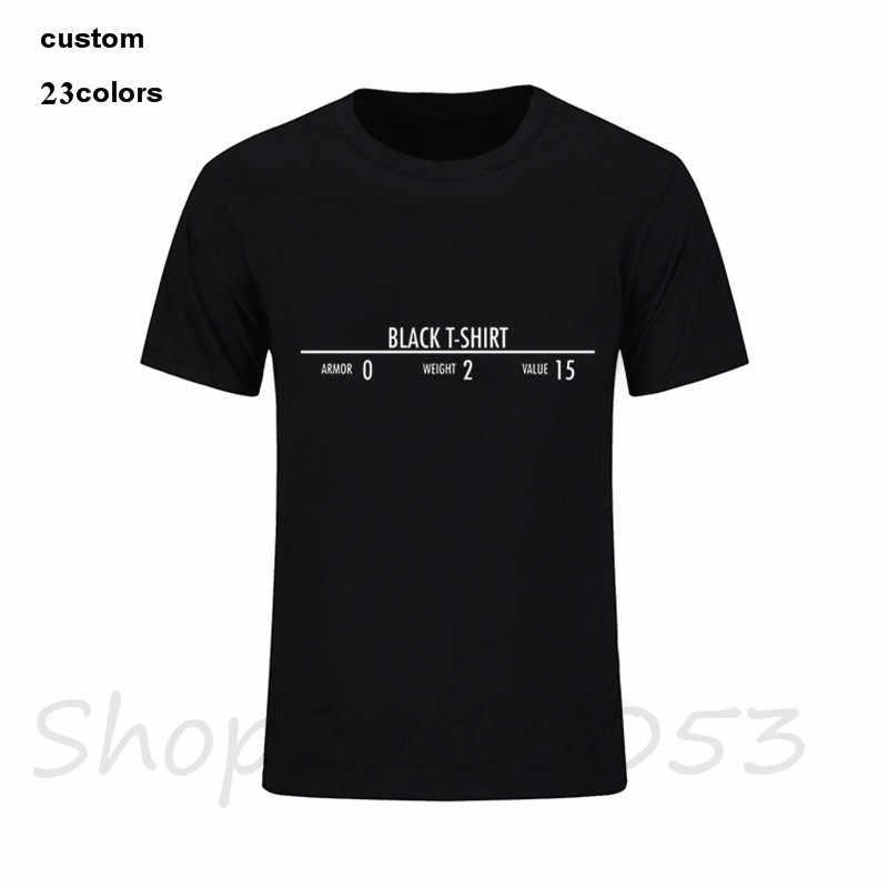 338a6c6d ... 2018 funny black tshirt Skyrim Men's game T-Shirts harajuku horror  white cotton male t ...