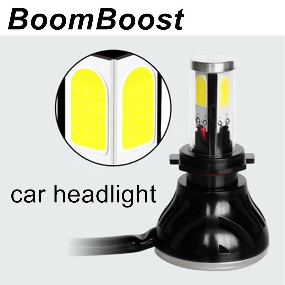 BoomBoost 12V 24V 40W Fog Lamps 6000K Super White Headlights Car External Light 2PCS 5202 H16 9006 HB4 H7 H8 H9 H11 H10 9005 HB3 new 2016 2pcs xml2 car led 12 24v 2000lm car lamps headlights fog light h7 h11 h8 hb3 hb4 9005 9006 free shipping