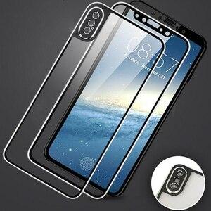 Image 3 - Przód + tył szkło hartowane dla iPhone X pełny ekran ochrona wymiana skrzynki pokrywa dla Apple iPhone 11Pro Max XS Max XR