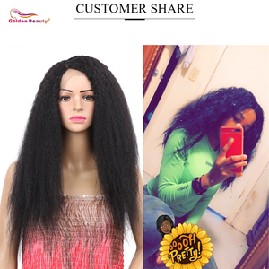 Image 2 - Peruca de cabelo sintético para mulheres, 24 polegadas, peruca cabelo sintético longo, castanho e resistente ao calor, cabelo natural, beleza dourada
