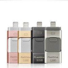 USB флеш-накопитель USB флешка для iPhone Xs Max X 8 7 6 iPad 8/16/32/64/128 GB карта памяти USB ключ MFi ручка-накопитель