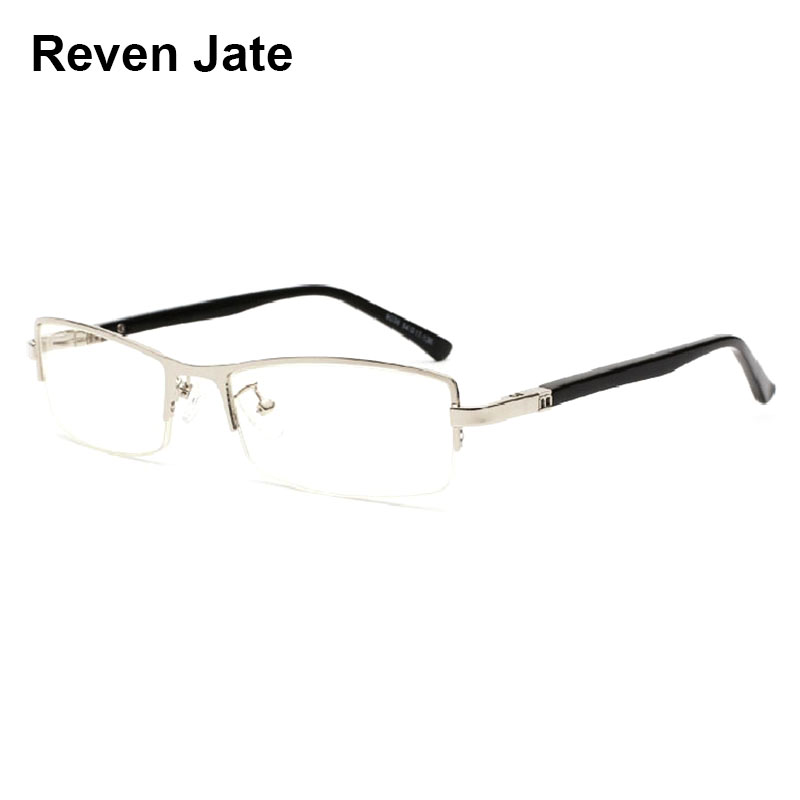 Reven Jate Titanium Business Men Eyeglasses Optical Frame Prescription Semi-Rimless Glasses Spectacles for Business Eyewear