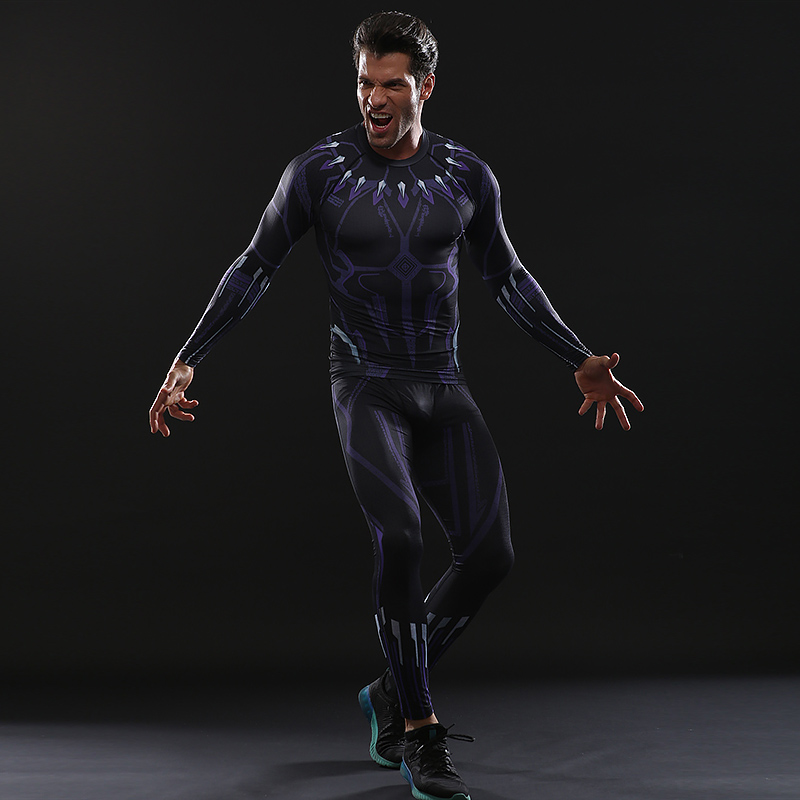 Avengers3 Black Panther Tights Snake Men Trousers High Elasticity And Quick Drying For 3D Gym Clothing