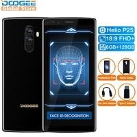 Original DOOGEE Mix 2 Android 7.1 4060mAh 5.99'' FHD+ Helio P25 Octa Core 6GB RAM 128GB ROM Smartphone Quad Cameras 16.0+13.0MP
